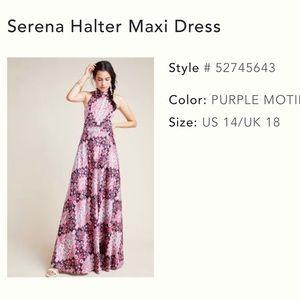 Anthropologie silk maxi dress.